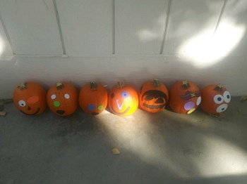 pumpkins decorated