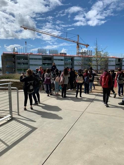 Students posing at UC Merced