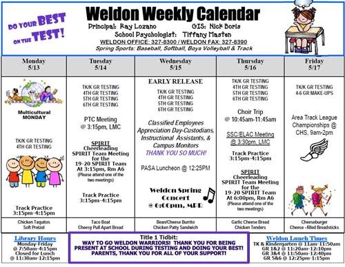 Weekly Calendar