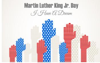 patriotic hands  I have a dream
