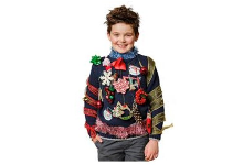 kid in ugly christmas sweater