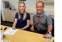 Mr. Lozano with Ms. Allison