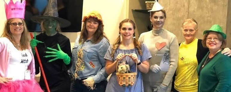 Weldon staff dressed as Wizard of Oz characters