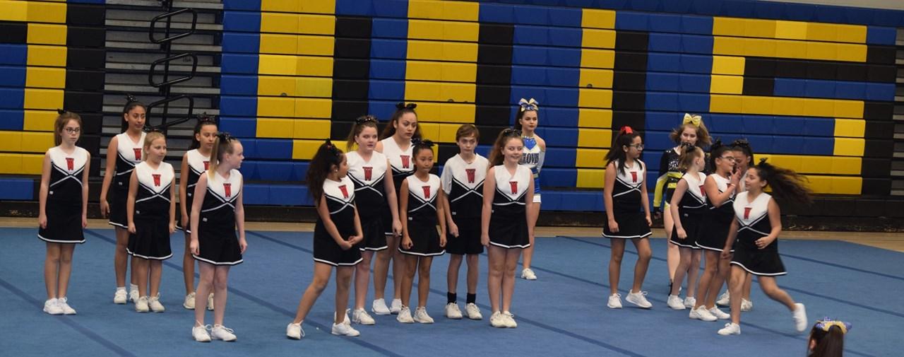 Cheer performing