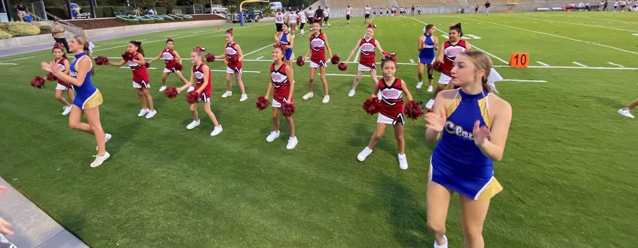Cheer at Clovis High Elementary Night