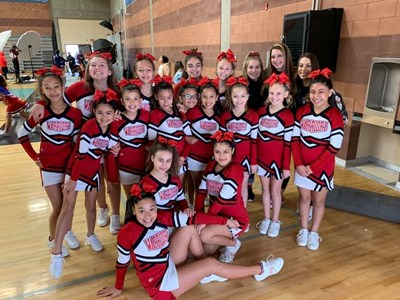 cheer team in uniform
