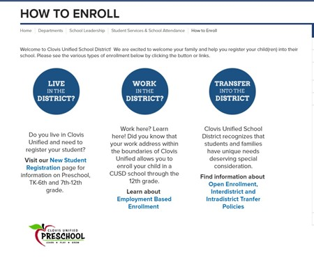 How to Enroll info