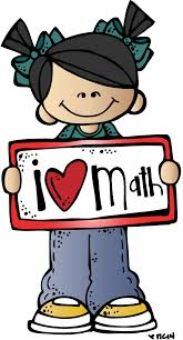 kids with I love math sign